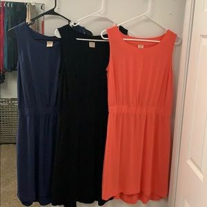 Faded Glory Dresses size M 8-10 black, coral, navy